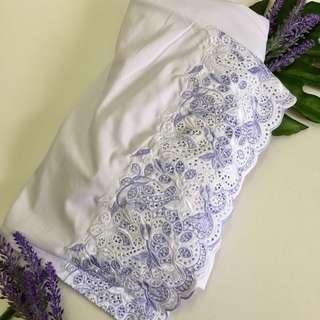 Telekung Sulam Cotton - High Quality, dagu lycra ala SK
