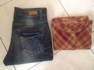 Take all jeans n baju