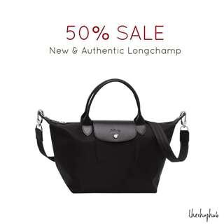 CHEAPEST AUTHENTIC  Longchamp Le Pliage Neo (with sling)- Black a258264e0e960