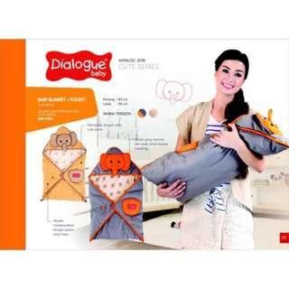 Baby Blanket + Pocket Dialogue Selimut Topi Anak Bayi Bedong Bayi