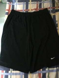 Nike黑色透氣棉質運動褲 橡筋褲頭 9成新