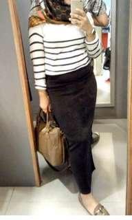 Rok span panjang long skirt #CNY2019