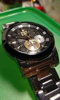 🚚 999 95% new 精工錶 錶 SEIKO KINETIC 藍寶石水晶 自動追時 萬年曆 7D56 SNP129J1 喬科維奇限定