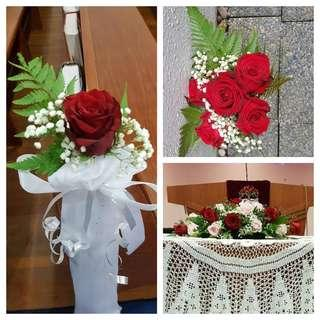 Church wedding package- fresh flowers