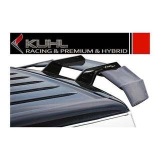 Ready stock 2 sets. Kuhl Racing Toyota Hiace Carbon GT wing. Genuine carbon fiber with metal brackets.