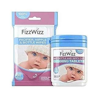Fizz Wizz Cleaning Tablets and Wipes
