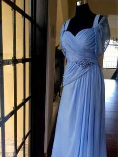 Light Blue Gown for Plus Size