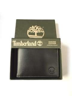 Timberland Men's Black Genuine Leather Passcase Wallet