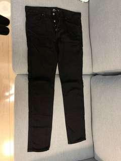 99% new publish brand axton denim pants black Nike adidas