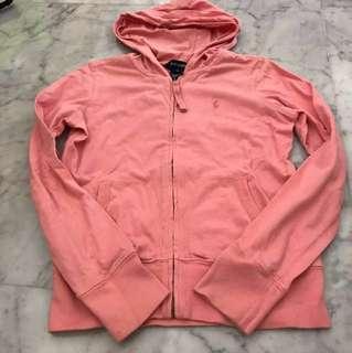 Pink Ralph Lauren zip jacket 7-9 yrs old (size M)