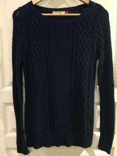 navy knitwear