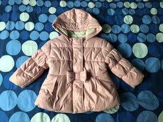 M&S pink baby coat