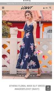 Lovet athena floral maxi slit dress #madebylovet