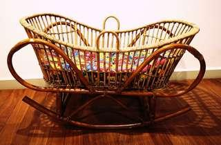 Unique Baby Cradle from Sri Lanka. HANDMADE!