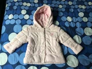Next pink baby coat (star)