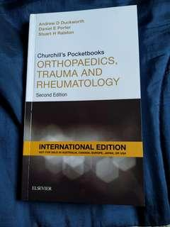 Medical Book- Chruchill's Pocketbook of Orthopedics,Trauma and Rheumatology