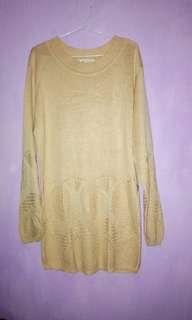Long sweater rajut