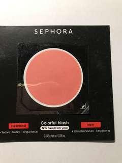 Sephora Blush sample