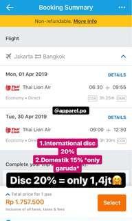 Tiket pesawat discount