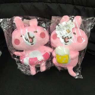 Kanahei 啤酒 游泳圈 水抱 卡娜赫拉 兔兔 粉紅兔兔 毛公仔 公仔 娃娃 玩偶 P助 台灣代購 6英吋