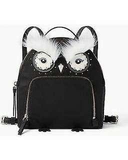 Kate Spade Owl Tomi Star Bright Small Nylon Back Pack-BLACK