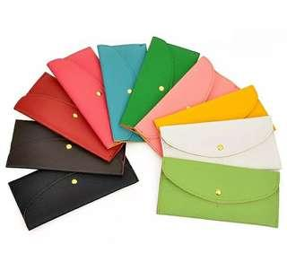 PO: Women's long wallet with Button opening and card holder