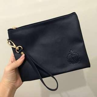 #CNY2019 Leather Pouch Dark Blue