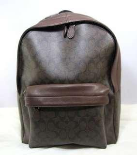 Coach Campus Pvc Signature Leather LG Backpack-MAHOGANY/BROWN