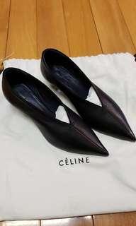 原價6000 brandnew Celine black leather shoes very comfortable celine 黑色真皮超舒服高踭鞋 低踭 返工一流