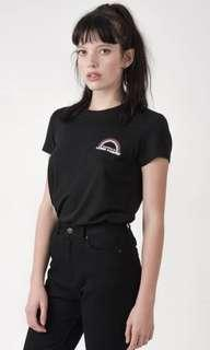 Afends Black Valencia Logo Classic Tee