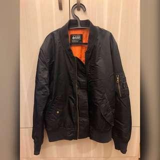 🚚 B-SIDE M號 黑色風衣外套 飛行外套