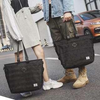 🚚 ✨CHIC✨ Vide Mesh Convertible Shoulder Sling Shopper Tote Documents Bag