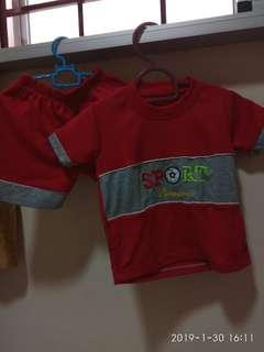 Sporty shirt and pant set