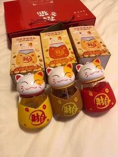 🚚 Fortune Cat glass bottle