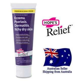Australia Hope Relief Eczema Cream for Face Hand Body Problem Dry Itchy Skin Eczema Dermatitis Psoriasis Babies Children Adult