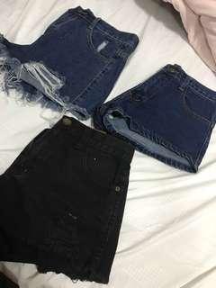 🚚 Denim high waist Shorts