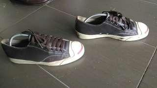 2 pasang, jack purcell & loafer timberland 8uk