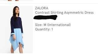 Contrat shirting dress