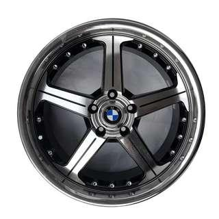 """19"""" staggered dish design 5x120 fits bmw"""