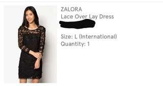 Lace over lay dress