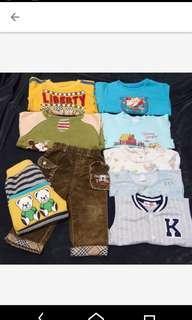 🚚 1~2歲童長袖衣褲9件