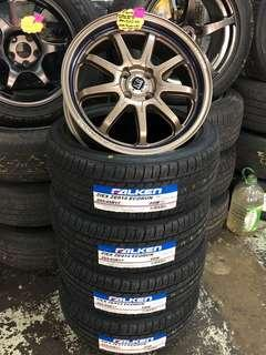 """17"""". 5x100.  New sportrims and falken tyres"""