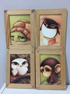 Wooden Frame / pigura 4pcs