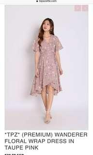 🚚 TPZ Wanderer floral wrap dress in taute pink