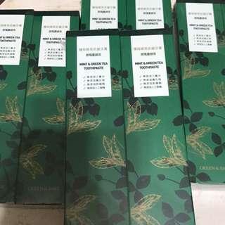 🚚 薄荷綠茶抗敏牙膏 那瑪夏綠茶 130g 2入