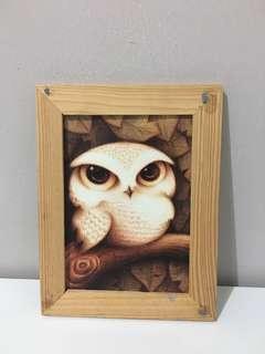 Pigura kayu / wooden frame 1 pcs