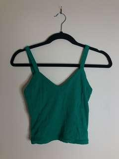 TOPSHOP Green Crop Singlet (Brand New Without Tags)
