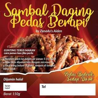 🚚 Sambal Daging Pedas Berapi