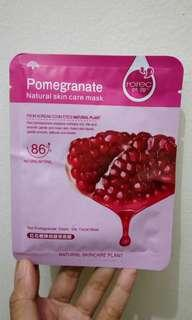 Free Mask Pomegranate untuk pembelian diatas 25k no nego