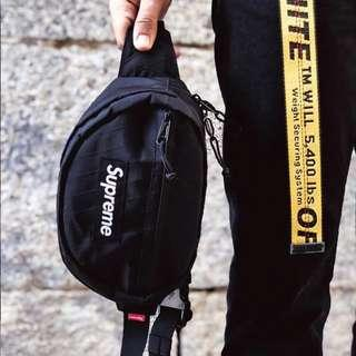 Supreme FW18 Black Waist Bag